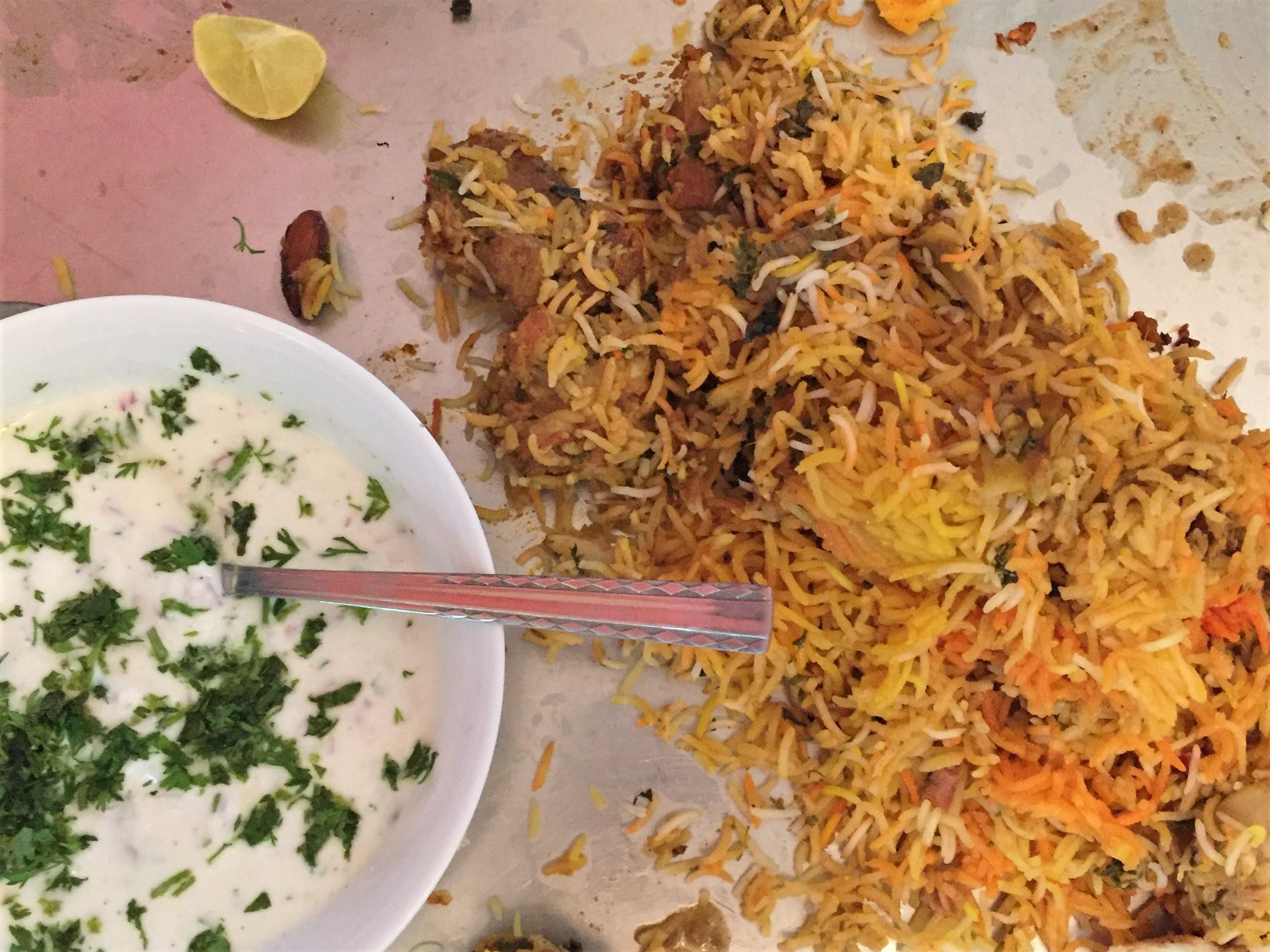Food in india biriyani