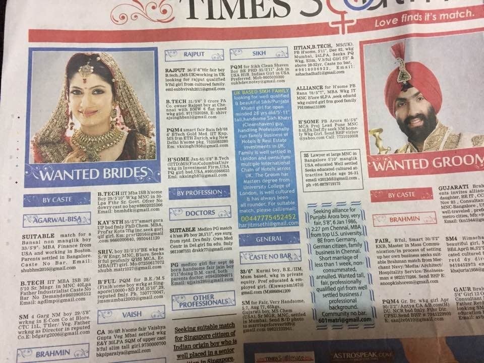 Arranged marriage in India: An outsiders view