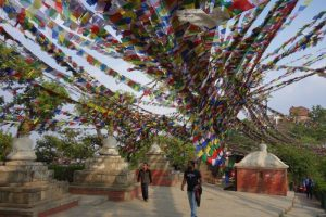 Prayer flags Swayambhu Stupa Swayambhunath
