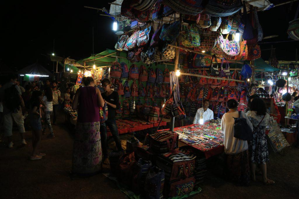 beaches goa night market