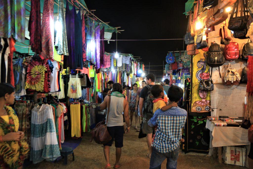 night market goa colourful