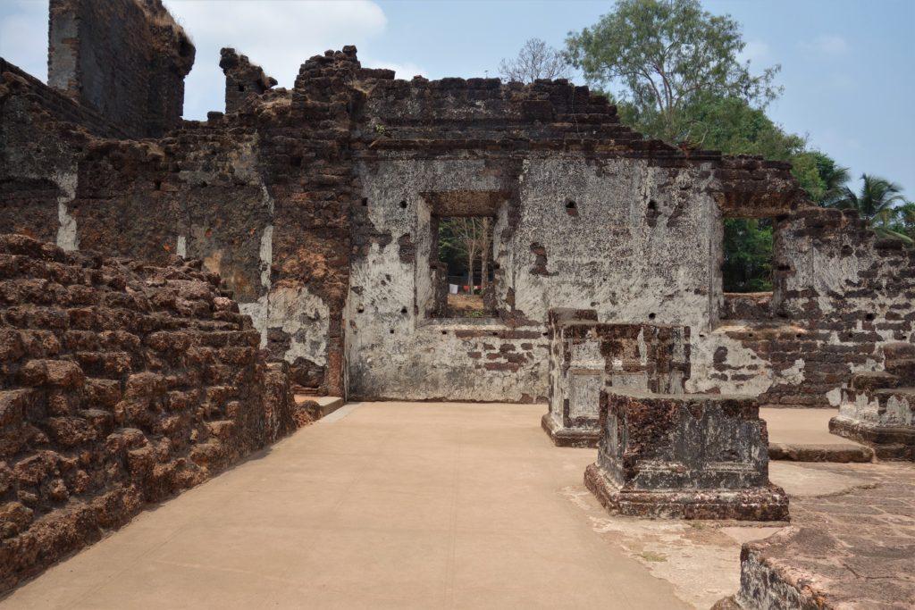 Goa Portuguese history church ruins