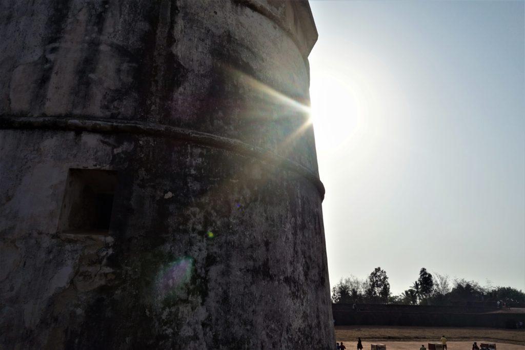 sunset in goa fort