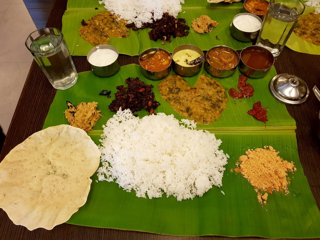 thali food in india leaf meal
