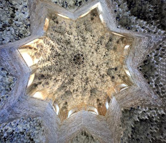 Alhambra carved ceiling