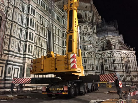 Restoration work at the Duomo in Florence