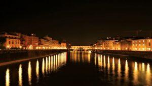 River Arno at night