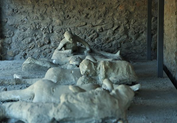 plaster casts of bodies