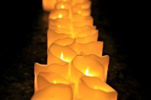 candles underground in Naples