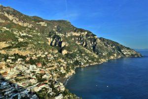 Positano view coastline Italy
