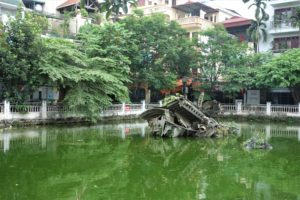 top 10 things to do in Hanoi bomber in pond
