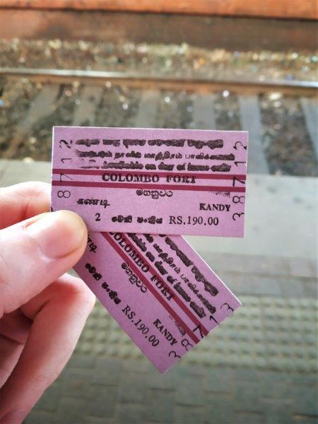 tickets for Kandy Sri Lanka train