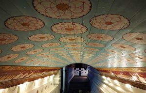 Sacred tooth temple ceiling Kandy Sri Lanka