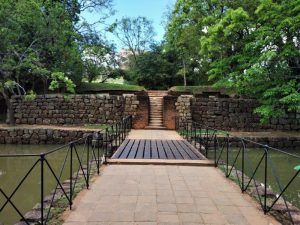 Entrance moat Sigiriya Kandy Sri Lanka