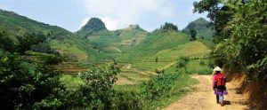 Bac Ha view of hill while walking