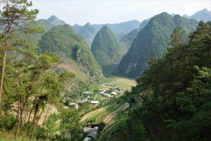 ha giang vietnam karst formation hills