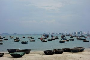 fishing boats in danang vietnam